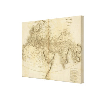 The World as known to the Ancients Canvas Print