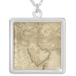 The World as known to the Ancients Silver Plated Necklace