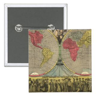 The World At One View 15 Cm Square Badge