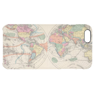 The world Atlas map with currents and trade winds Clear iPhone 6 Plus Case