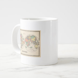 The world Atlas map with currents and trade winds Giant Coffee Mug