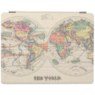 The world Atlas map with currents and trade winds iPad Cover