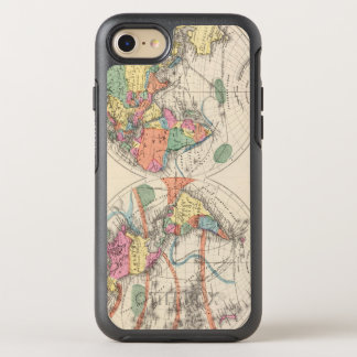 The world Atlas map with currents and trade winds OtterBox Symmetry iPhone 7 Case