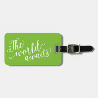 The World Awaits in Apple | Luggage Tag