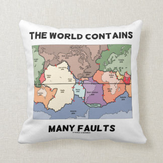 The World Contains Many Faults Plate Tectonics Cushion