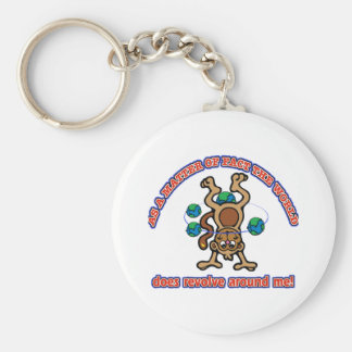 The World does revolve around me Basic Round Button Key Ring