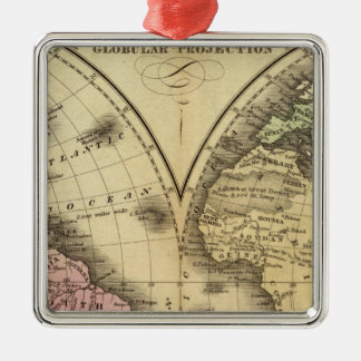 The World double hemisphere map Christmas Ornament