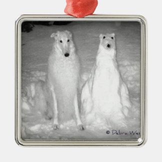 The World Famous Mychtar and His Snowdog ! :) Christmas Ornament