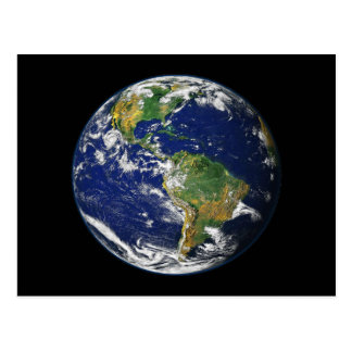 The World From Space Postcard