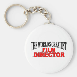 The World&' Greatest Film Director Basic Round Button Key Ring
