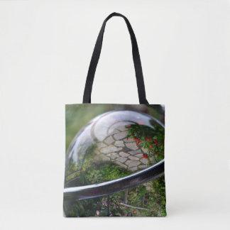 The World Inside a Glass Ball Tote Bag