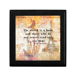 The world is a book and those who do not travel small square gift box