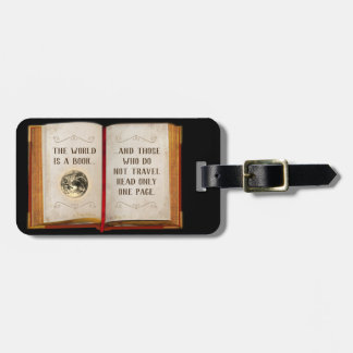 The World is a Book... Luggage Tag