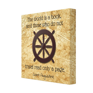 The World is a Book * St Augustine Quote Canvas Print