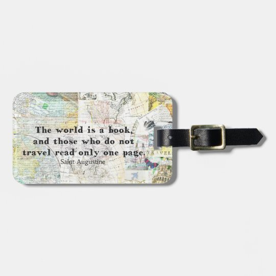 The world is a book TRAVEL QUOTE Luggage