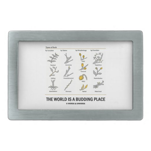 The World Is A Budding Place (Types Of Buds) Belt Buckle