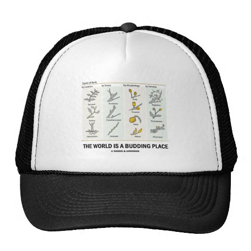 The World Is A Budding Place (Types Of Buds) Hat