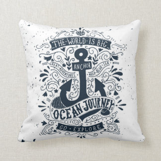 The World Is Big - Go Explore Throw Pillow