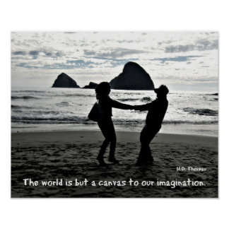The world is but a canvas to our imagination. posters