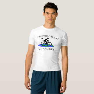 """The world is flat"" active tops for men"