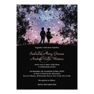 The World Is Ours - Borealis Version - Wedding Custom Invitation