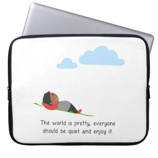 The world is pretty computer sleeve