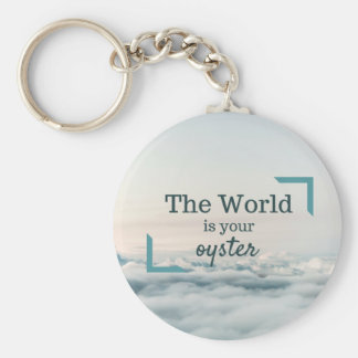 The World Is Your Oyster Basic Round Button Key Ring