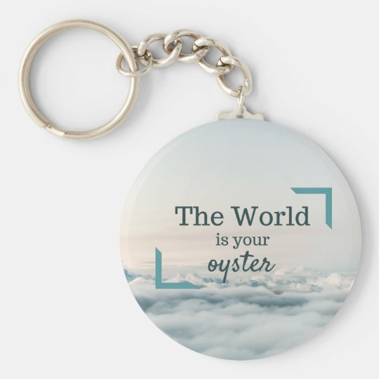 The World Is Your Oyster Basic Round Button