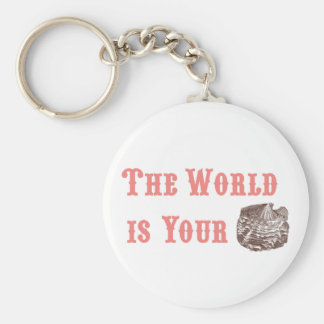 The World is Your Oyster Keychain