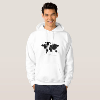 the world is yours map hoodie