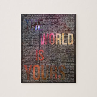 The World is Yours Motivational Quote Puzzle
