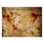 The World Map According to John 3:16 Poster