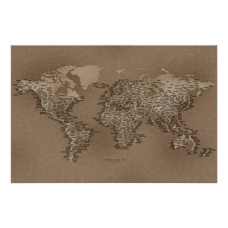 The World Map of Small Towns Poster