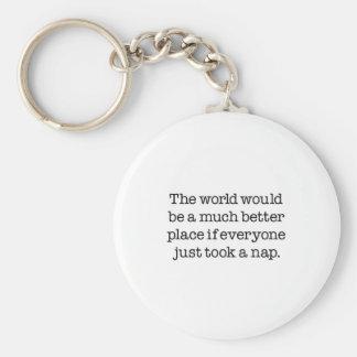 The World Needs A Nap Key Ring