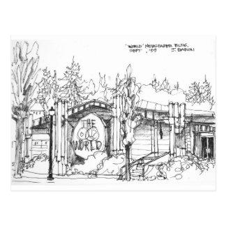 The World Newspaper Building, Coos Bay, Oregon, Postcard