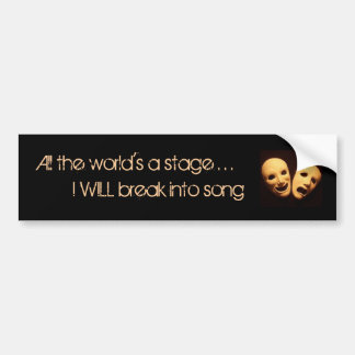 The world of musical theater bumper sticker