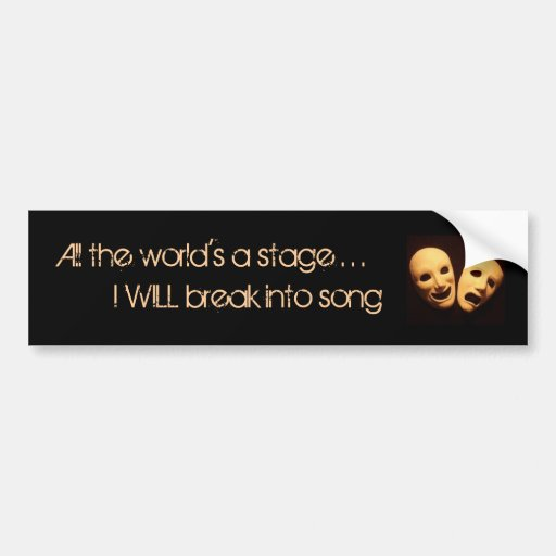 The world of musical theater bumper stickers