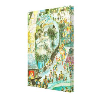 The world on its way to Bethlehem Stretched Canvas Prints