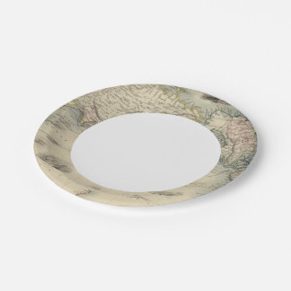 The World On Mercator's Projection Paper Plate