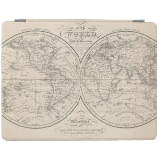 The World on the Globular Projection iPad Cover