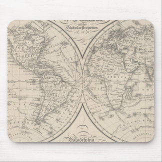 The World on the Globular Projection Mouse Pad