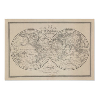 The World on the Globular Projection Poster