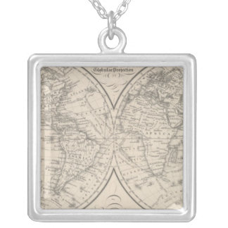 The World on the Globular Projection Silver Plated Necklace