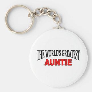 The World s Greatest Auntie Keychains