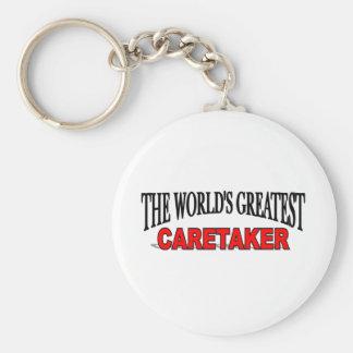 The World s Greatest Caretaker Keychain