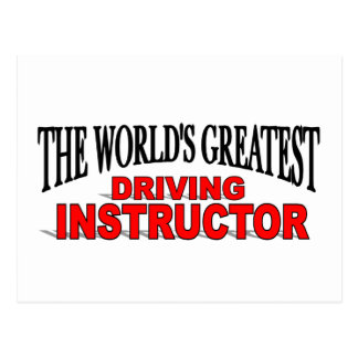 The World s Greatest Driving Instructor Postcard
