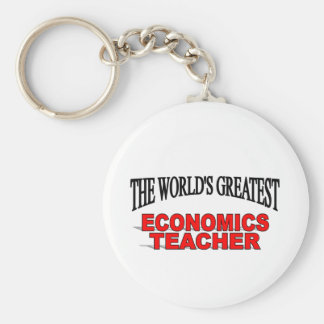 The World s Greatest Economics Teacher Keychain