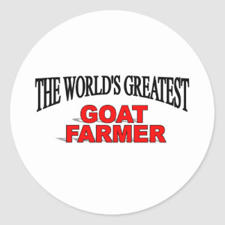The World s Greatest Goat Farmer Stickers
