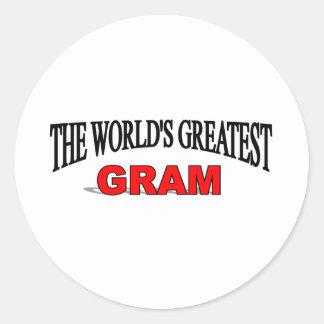 The World s Greatest Gram Round Stickers