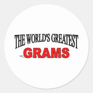 The World s Greatest Grams Round Sticker